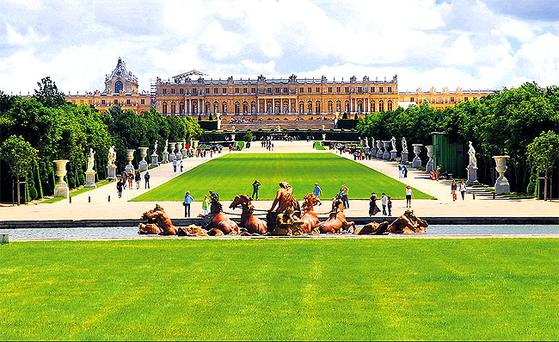 Royal indulgence: The Château de Versailles, just outside Paris