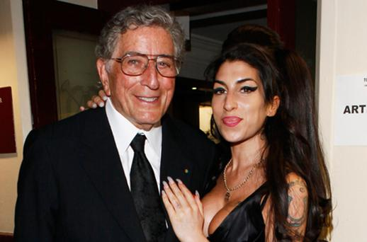 Tony Bennett and Amy Winehouse attend the after show party for Tony Bennett's concert at Royal Albert Hall in 2010. Photo: Getty Images
