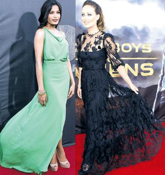 From left: Freida Pinto and Olivia Wilde