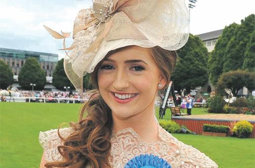 Yvette Byrne, winner of the Best Dressed Lady competition at the Dublin Horse Show