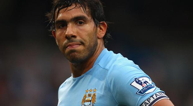 Tevez: back in training. Photo: Getty Images