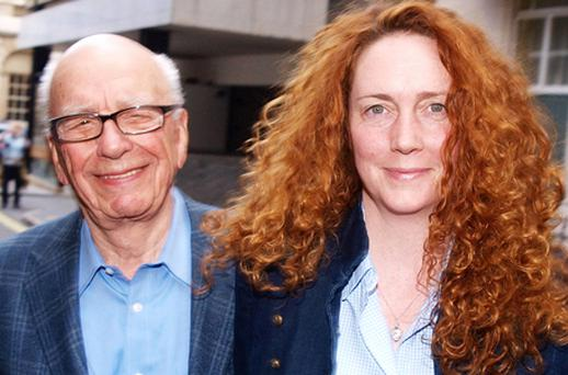 Rupert Murdoch and Rebekah Brooks. Photo: Getty Images
