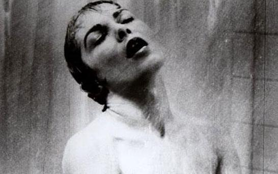 Janet Leigh in the shower scene in Alfred Hitchcock's 1960 classic thriller Psycho Photo: AP