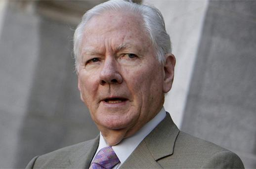 Gay Byrne: at pains to stress he would be an Independent candidate but has still to make his decision. Photo: Steve Humphreys