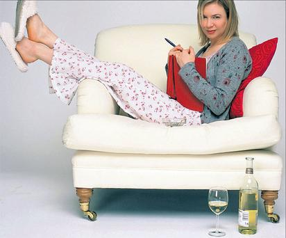 The white stuff: Bridget Jones (played by Renee Zellweger) loves her Chardonnay