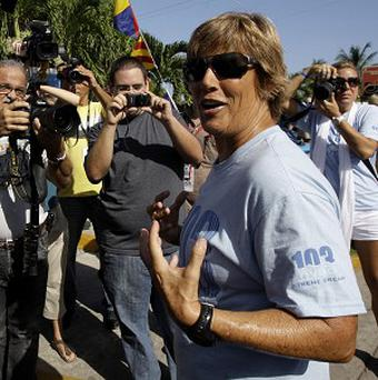 Diana Nyad has abandoned a bid to swim from Cuba to Florida (AP)