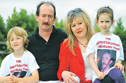 Denis O'Callaghan, his wife Julie and their children Deon (8) and Julianna (5) of Glanmire, Co Cork