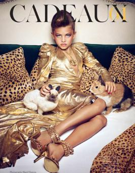10-year-old French model Thylane Loubry Blondeau as she appeared in last year's Vogue Paris shoot. Photo: Vogue Paris