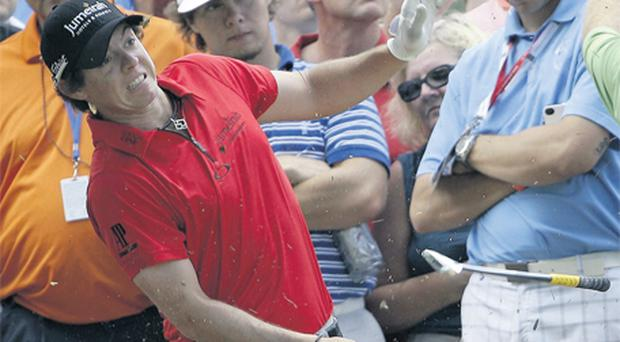 Rory McIlroy damaged his wrist performing a high-risk shot