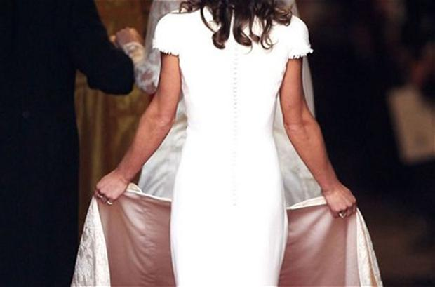 Pippa Middleton's derriere on display. Photo: Getty Images