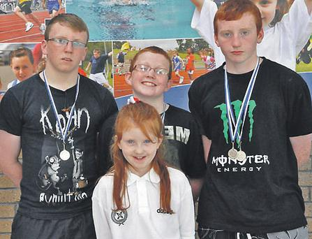 The Hynes family (l-r) Andrew, Katie, Matthew and Robert who all took part in the Community Games in Athlone over the weekend