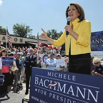 Republican presidential candidate Michele Bachmann speaks to supporters at the Beacon Drive-in in Spartanburg (AP)