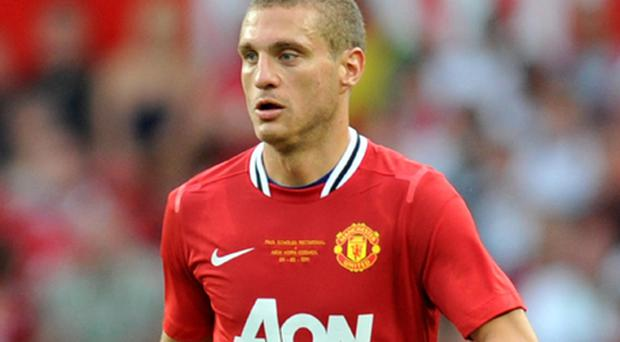 Ruled out: Manchester United defender Nemanja Vidic. Photo: PA