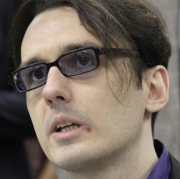 Damien Echols, one of the three men who pleaded guilty to murders they say they didn't commit (AP Photo/Danny Johnston)