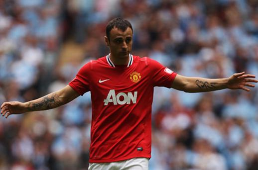 Berbatov has less than a year remaining on his United contract. Photo: Getty Images