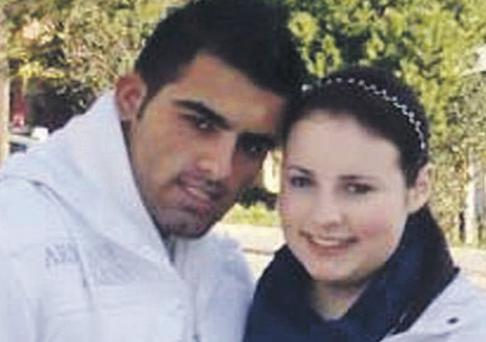 Alleged killer Recip Cetin pictured with Shannon Graham