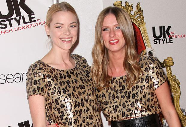 Actress Jamie King and Nicky Hilton in the same French Connection dress at an LA fashion event