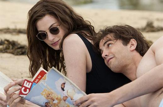 Page returners: Anne Hathaway and Jim Sturgess in 'One Day'. Photo: AP