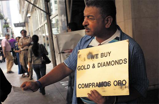 Until this week, traders in New York had been doing brisk business buying gold from members of the public