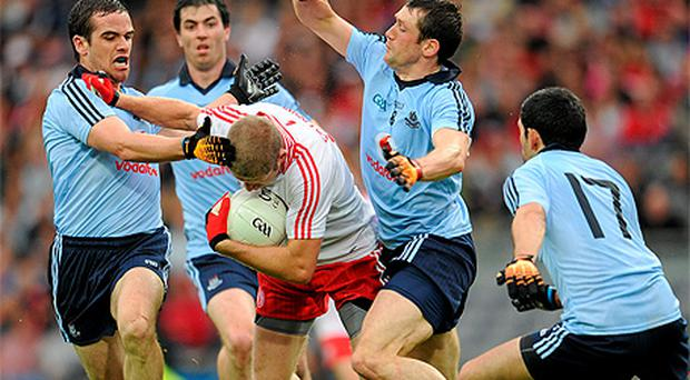 Dublin in action against Tyrone in the SFC quarter-final