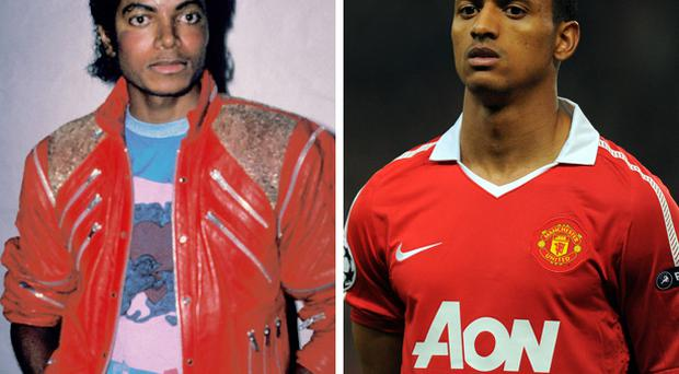 Manchester United's Luis Nani gets plenty of stick from fans about looking like Michael Jackson