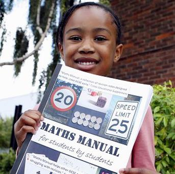 Six-year-old Deborah Thorpe of Chadwell Heath, east London, has passed her GCSE maths exam