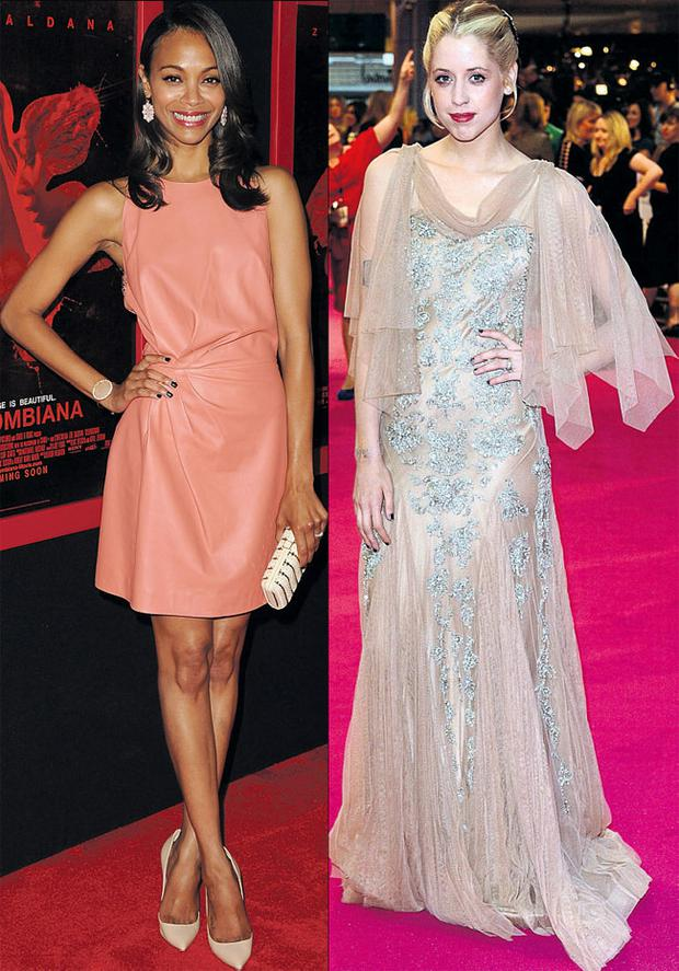 From left: Zoe Saldana and Peaches Geldof