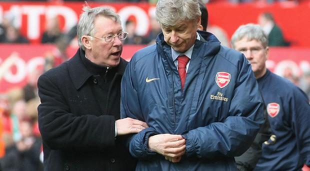 Alex Ferguson and Arsene Wenger. Photo: Getty Images