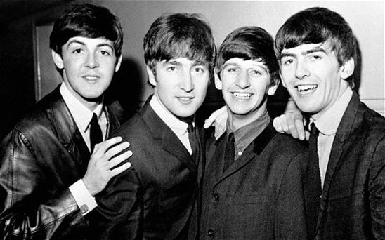 Beatles on iTunes...BLACK AND WHITE ONLY.File photo dated 01/06/1963 of The Beatles (left - right) Paul McCartney, John Lennon, Ringo Starr and George Harrison as the group are going to be available on iTunes for the first time. PRESS ASSOCIATION Photo. Issue date: Tuesday November 16, 2010. The deal, which means the Beatles will be sold online for the first time, follows years of talks between record label EMI and Apple. Sir Paul McCartney said: