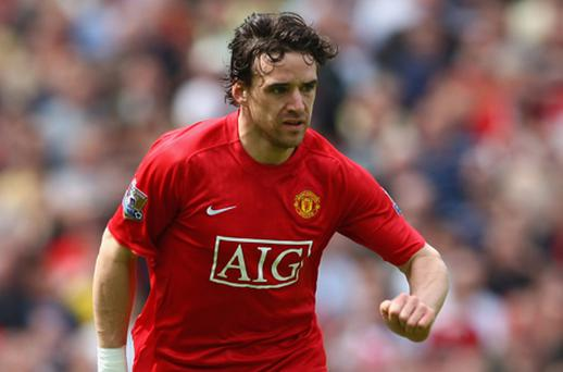 Blue is the colour: Owen Hargreaves is set to join Manchester City after being released by Manchester United. Photo: Getty Images
