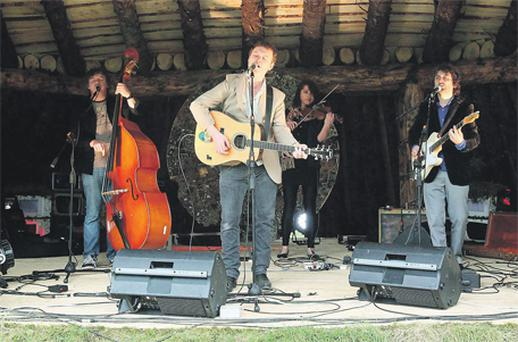 Mundy performs on the 'Earth Ship' stage at a preview of the Electric Picnic 2011 at Stradbally, Co Laois, yesterday