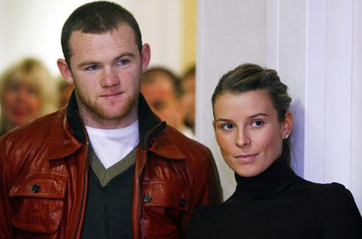 Wayne and Coleen Rooney. Photo: PA