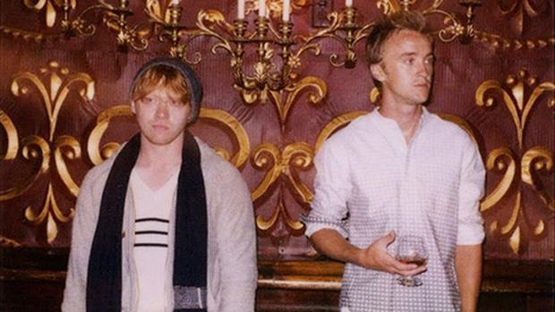 Rupert Grint and Tom Felton in the Band of Outsiders autumn/winter 2011 menswear campaign