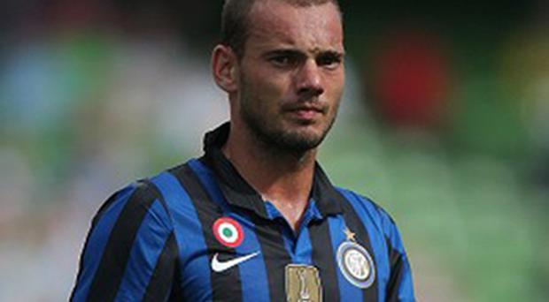 Wesley Sneijder was tempted by a move to Manchester United. Photo: PA