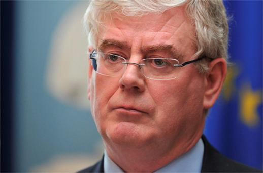 Tanaiste Eamon Gilmore: 'failing to assert himself'. Photo: Damien Eagers