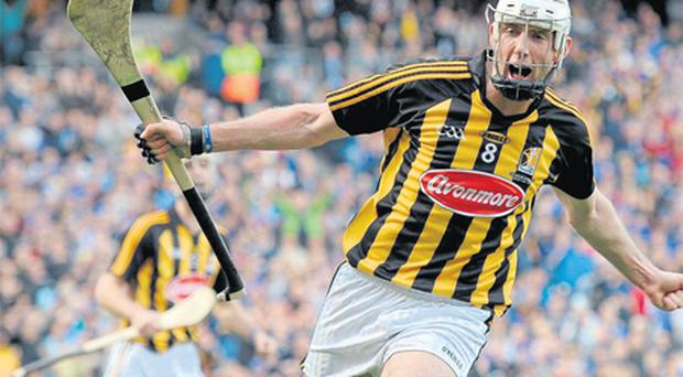 Michael Fennelly celebrates after scoring Kilkenny's first goal