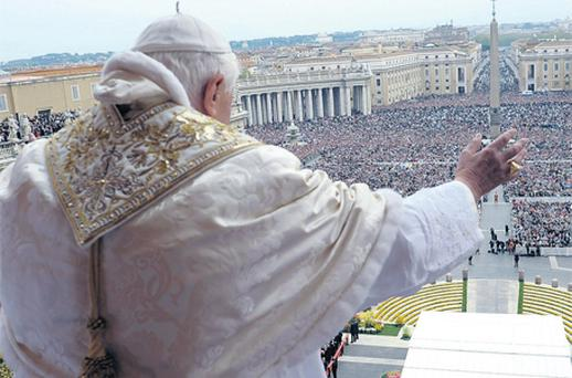 Pope Benedict in St Peter's Square
