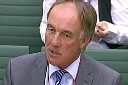 News International head of legal affairs, Tom Crone, appears before the Commons Culture, Media and Sport committee, as the probe into the phone-hacking scandal is resumed following the summer recess. Photo: PA