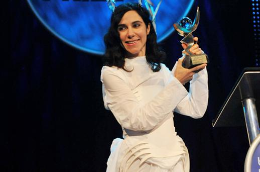 PJ Harvey, winner of the Barclaycard Mercury Prize 2011. Photo: Getty Images