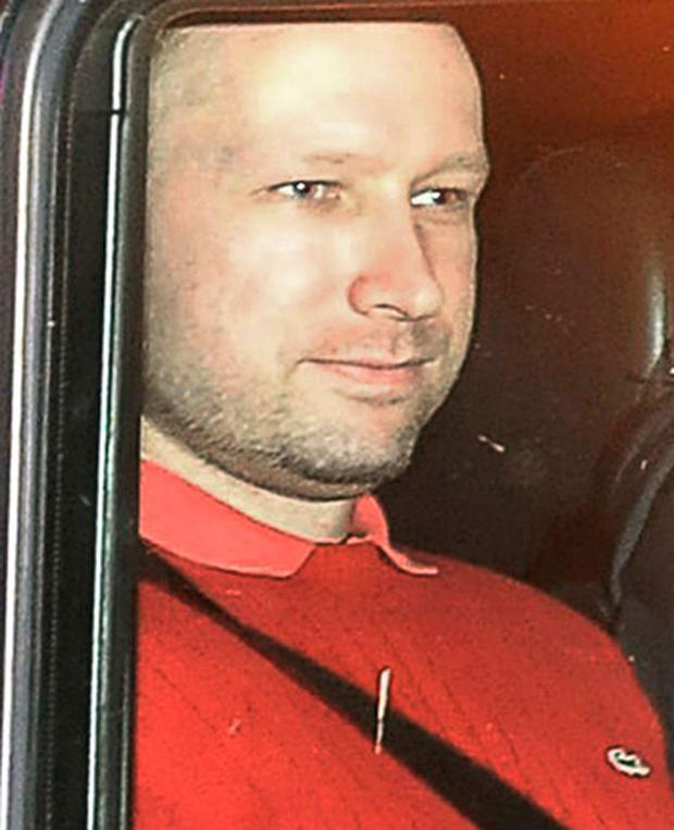 Anders Behring Breivik pictured wearing a red Lacoste sweater with the distinctive crocodile logo. Photo: Getty