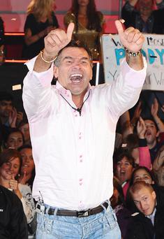 My Big Fat Gypsy Wedding star Paddy Doherty leaves the house after being named winner in this year's Celebrity Big Brother. Photo: PA