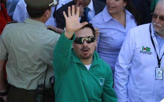Rescued miner Edison Pena. Photo: AP