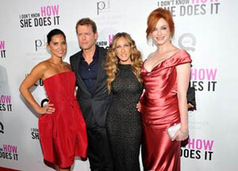 Olivia Munn, Greg Kinnear, Sarah Jessica Parker and Christina Hendricks attending the premiere of I Don't Know How She Does It.