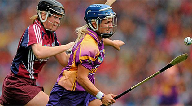 Karen Atkinson in action for Wexford. Photo: Sportsfile