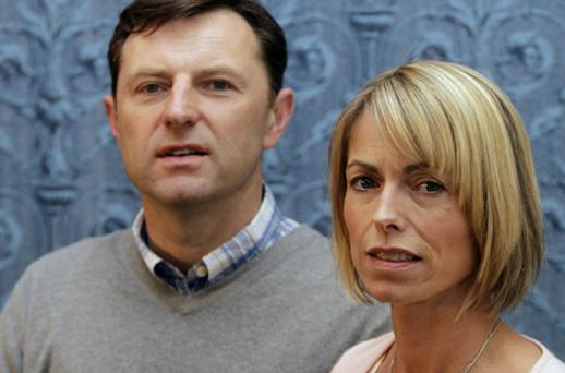Kate and Gerry McCann who were named today as core participants in the first stage of the inquiry into the phone-hacking scandal. Photo: PA