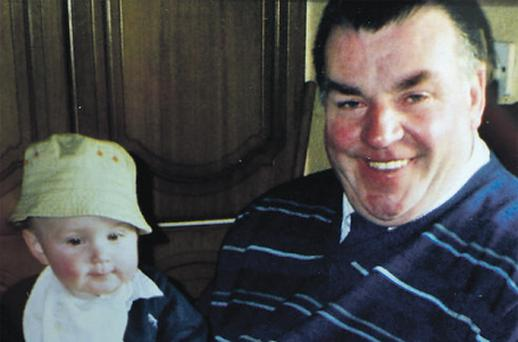 Pee Farrell (60), killed in a hit-and-run in Edenderry, Co Offaly, with his grandson Cormac