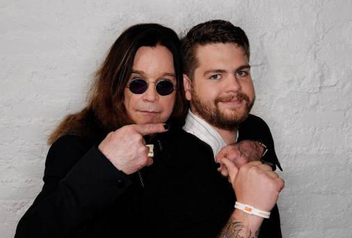 Ozzy Osbourne and son, producer Jack Osbourne visit the Tribeca Film Festival in April this year
