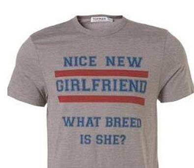 Topman T-Shirts Accused Of Being Sexist And Glamourising Domestic ViolencePictured are the t-shirts in question