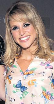 Amy Huberman: on her way to support her husband Brian O'Driscoll in New Zealand