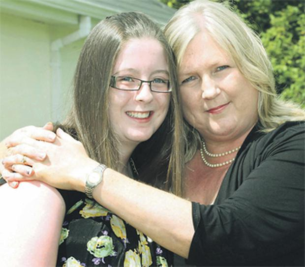 Meadhbh McGivern at home in Ballinamore, Co Leitrim with her mother Assumpta in July